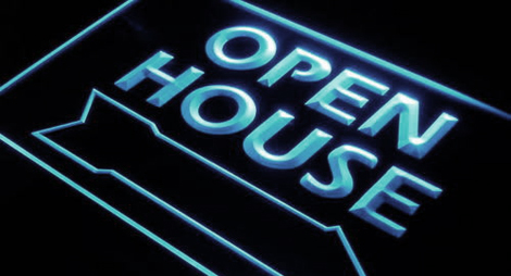 Open House Real Estate Decor Neon Light Sign